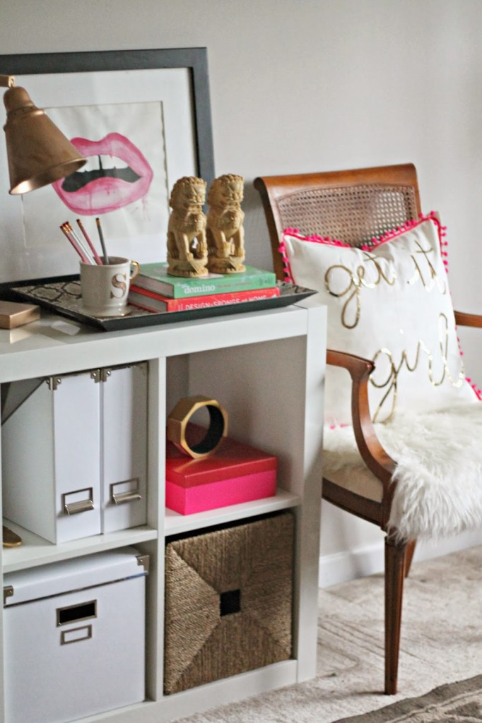 Diy 5 Gold And Pink Sequin Pillow Shannon Claire