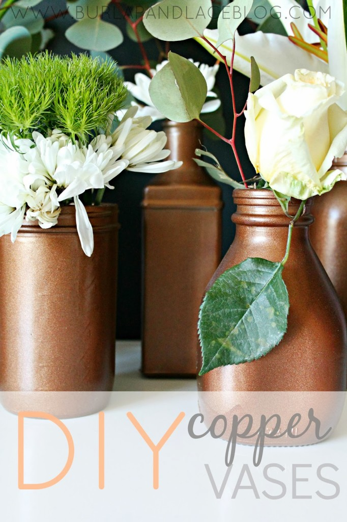 Diy Painted Copper Vases Shannon Claire