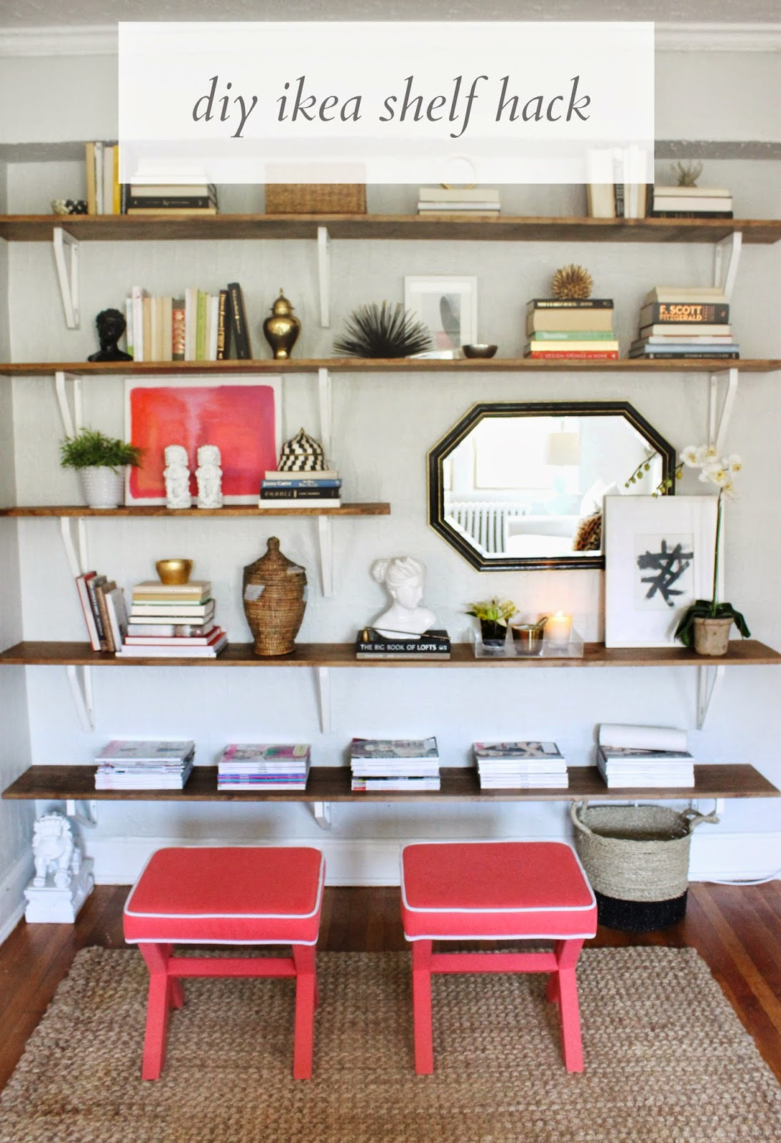 {DIY Files} Ikea Hack-ed Shelving Unit - Shannon Claire