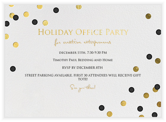 Holiday Office Party for Local Designers and Bloggers!