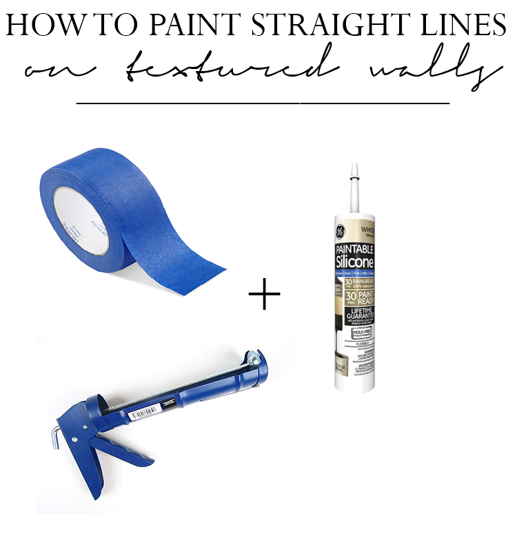 How to Paint Straight Lines on heavily Textured Walls Shannon Claire