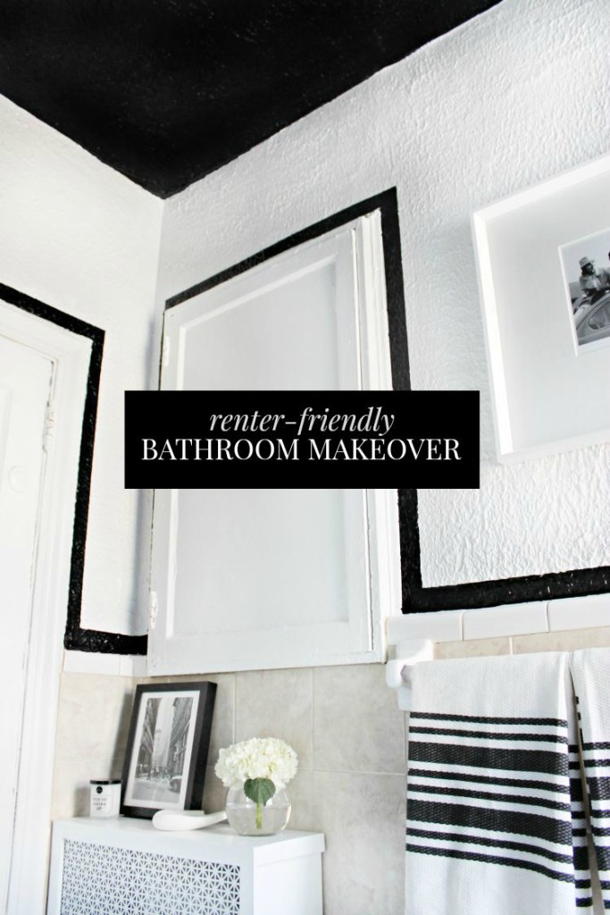 Bathroom Makeovers For Renters apartment bathroom makeover reveal! - shannon claire