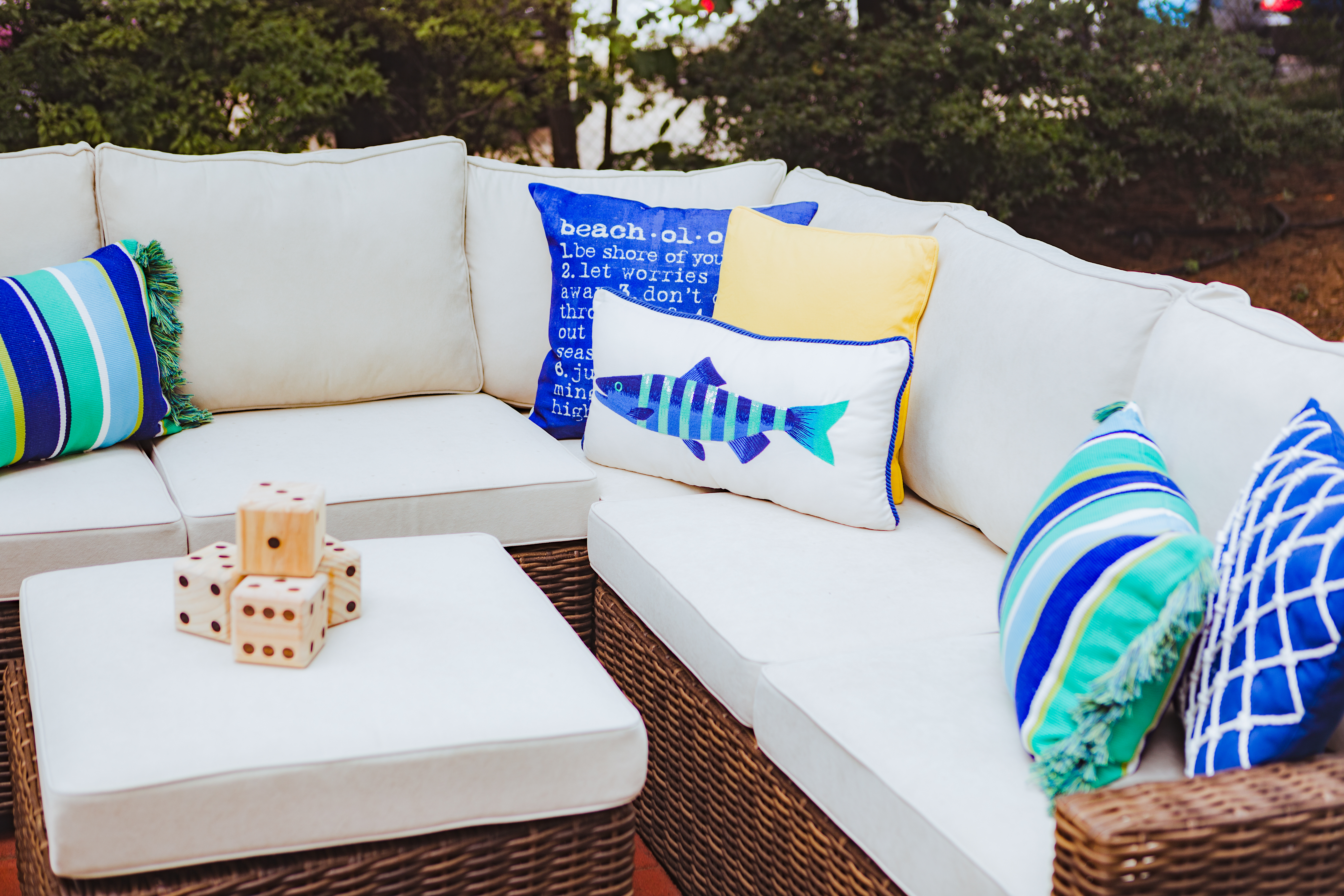 coastal summer backyard party with pier 1 shannon claire