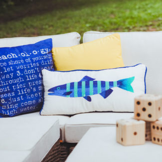 Coastal Summer Backyard Party with Pier 1