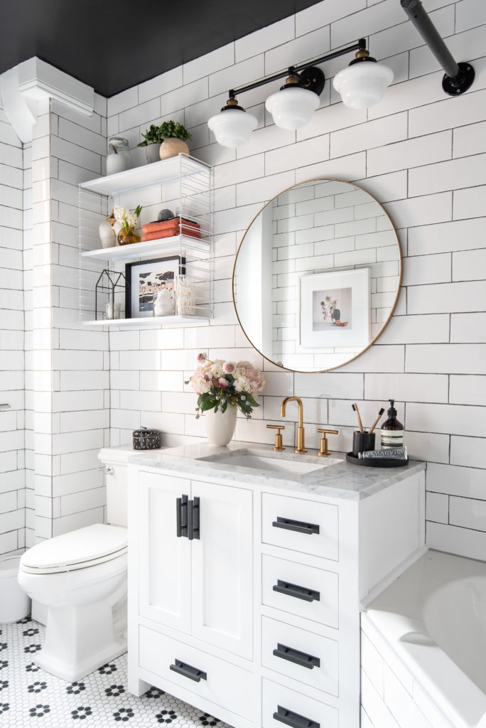 My Favorite Thing About This Makeover Is That We Didn T Change The Footprint Of Bathroom At All Were Able To Achieve Vastly Diffe Look By